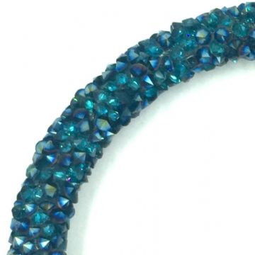 7mm sparkle dust crystal tubing 1 metre - teal